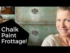 Chalk Paint Technique with Frottage, Glazing & White Wax for Aging - YouTube Using Chalk Paint, Chalk Paint Colors, White Chalk Paint, Chalk Painting, Blue China Cabinet, China Cabinets, Chalk Paint Techniques, Colorful Dresser, Chalk Paint Furniture