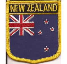 New Zealand Flag Patch - Shield