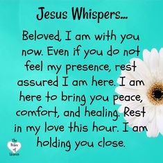 Thank You Jesus!!! I need that reminder much of the time!