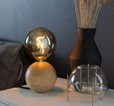 Scandinavian design lights that brings a touch of nature and minimalistic nordic feeling into your home. Lamp Design, Scandinavian Design, Interior Inspiration, Light Bulb, Table Lamp, Lights, Interiors, Home Decor, Tips