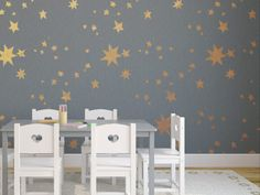 Make a wish with this reusable wall stencil! This star of a pattern is perfect for kid's rooms, nurseries, you name it. Sleep under the stars with your own starry ceiling, or even try metallic, or glow in the dark paint! Skys the limit!