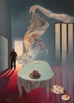 """no appetite""  ~  Lohmuller Gyuri, aka gyurka is a painter based in Brasov, Romania"