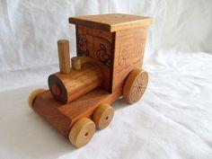 Wood Cointinental Railroad Train Engine Money Bank Music Box Toystalgia Wood  #ToystalgiaInc