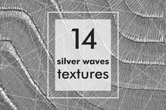 Silver waves texture backgrounds by KsaniaDesigner's Shop on @creativemarket