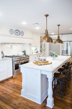 Love the lighting! Our favorite HGTV Fixer Upper homes by Chip + Joanna Gaines! http://www.stylemepretty.com/living/2015/12/16/our-favorite-hgtv-fixer-upper-interior-design-moments/