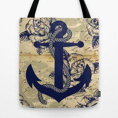 Anchor Art III Tote Bag by studio VII - http://society6.com/vivinicolin/Anchor-Art-III_Bag#26=197