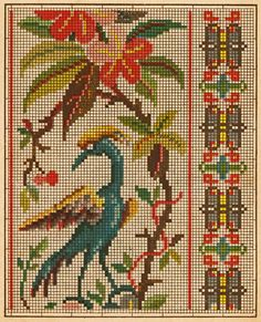 Antique Embroidery/Cross Stitch Chart #3