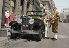 Shorpy Historic Picture Archive :: The Jazz Driver (Colorized): 1927 high-resolution photo