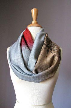 TDynasty Print Graphic Warm Shawls Scarves Printing Fashion Scarf Shawl Winter Scarf Warm Soft Multi-Purpose for Adult Women Gifts