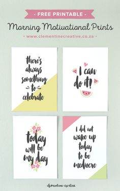 If you need a little encouragement in the morning or throughout the day, these printable morning motivation quotes are just for you. Download 7 motivational art prints that you can put up on your bulletin board, vision board, your cubicle wall or in your ring binder planner as an inspirational dashboard