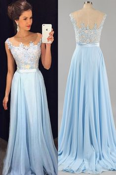 Elegant A Line Prom Dress,Blue Graduation Dress,Blue Lace Prom Party Gown on Storenvy #dress #dresses #dressesonline #eveningdress #longdress #partydress #promdresses #prom