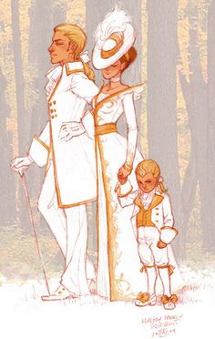 Malfoy family -- This is totally what I picture Draco's childhood being like.