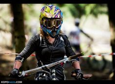girls on dh mtb bikes