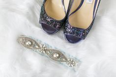 our brand new Sydney garter paired with Jimmy Choo's Luna heels. To see more of this beautiful wedding garter, head to www.lagartier.com
