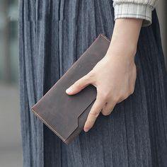 Handmade Luxury Vintage Leather Clutch, Men/Women,Wallet,Purse