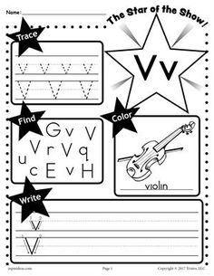 Free Letter V Worksheet