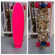 THE MERMAID'S SKATEBOARD. $200.00 . How bout green or blue?Instead of ugly pink.