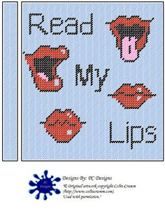 Read My Lips Spiral Notebook Cover Plastic Canvas by PCDesignz, $3.00