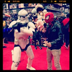 #StarWars #Spiderman #WTF #Cosplay  #NYCC #JavitsCenter