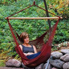 Rope Hammock, Hanging Hammock Chair, Hammock Stand, Swinging Chair, Hanging Chairs, Hammocks, Hanging Rope, Backyard Hammock, Pergola Swing