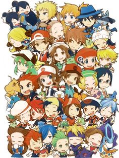Everyone's here! Pokemon trainers, and more (Pokemon)