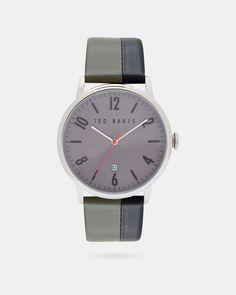 Uhr mit gestreiftem Armband - Grau   Uhren und Schmuck   Ted Baker DE