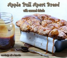 Apple Pull Apart Bread with Caramel Drizzle and Happy Birthday #SundaySupper