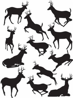 Elk black silhouette vector Vector Silhouettes - Free vector for free download