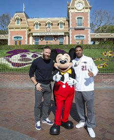 Julian Edelman Photos: Julian Edelman and Malcolm Butler Visit Disneyland wish I would've been there that day!