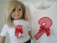 American Girl Doll Matching Christmas Set for Girls and Dolls Bitty Baby American Girl via Etsy