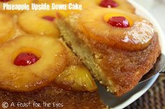 A Feast for the Eyes: Pineapple Upside Down Cake (with a little rum)