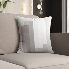 Mercury Row Gilberto Cotton Pillow Cover Size: H x W x D, Color: Gray\Neutral Pillow Cover Design, Pillow Covers, Affordable Furniture, Modern Rustic Interiors, Perfect Pillow, Throw Pillow Sets, Cotton Pillow, Outdoor Throw Pillows, Floor Pillows