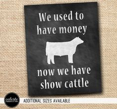 Livestock Show Chalkboard Inspired Metal Sign Wall by CelesteComm, $30.00