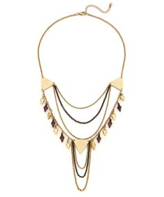 Haunting Shadows Necklace - Gold and Bronze by COB & PEN