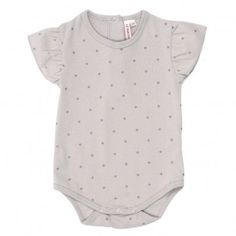 LE MARCHAND D'ETOILES  Stars Baby Body suit - Grey