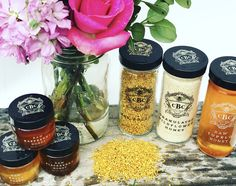 BEE POLLEN is not only great for your health...but it sure does make for a pretty picture!