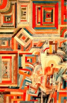 paul klee / palace partially destroyed