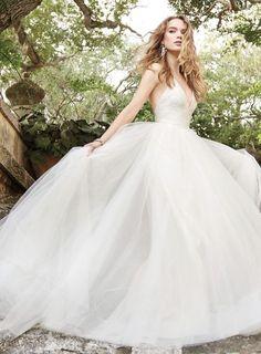 Wedding dress idea; Featured Dress: Jim Hjelm by Hayley Paige