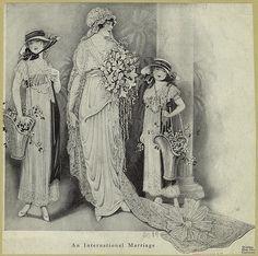 1914 Bride and Flower Girls
