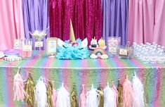 Unicorns are the hottest craze right now. From unicorn bath bombs to unicorn dyed hair, we just can't get enough! I was so excited when one of our party clients …