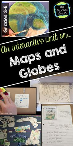 """So many mapping units are """"fill in the blank"""" and boring! Not this one! Check out this post about how to make your mapping unit interactive, filled with projects, cooperative learning, art, and more!"""