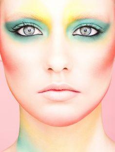 Extreme eye makeup. Fantasy face makeup. Amazing lip designs. All very inspiring…