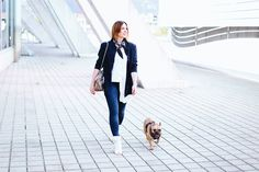 Es gibt einen neuen Streetstyle auf meinem Fashion Blog. Es dreht sich alles um Peeptoe Booties von Guess, Skinny Jeans und Streifenbluse.
