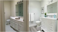 'Before' and 'after' pictures show the full extent of these amazing bathroom transformations