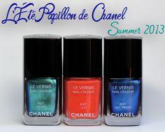 chanel summer 2013 lete papillon de chanel le vernis Chanel Summer 2013   Azuré, Bel Argus & Lilis Le Vernis Swatches & Review