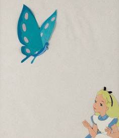 Alice in Wonderland Alice and the Caterpillar Production Cels Set-Up (Walt Disney, 1951)