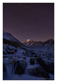 Shooting Star - Mt. Cook, New Zealand