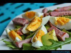 Avocado, ham, eggs