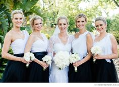 Black and white bridesmaids // Photo by Christine Meintjes