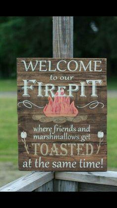 Fire pit / backyard sign